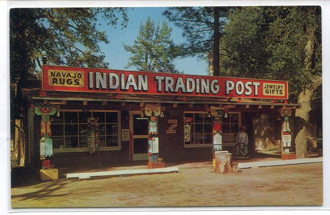 Indian Trading Post Highway 80 Pine Valley California Roadside America postcard